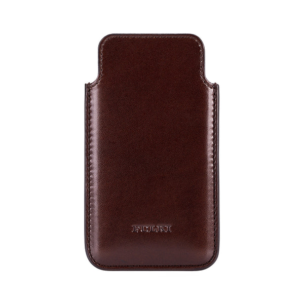 Leather iPhone 5 Pouch in Coffee