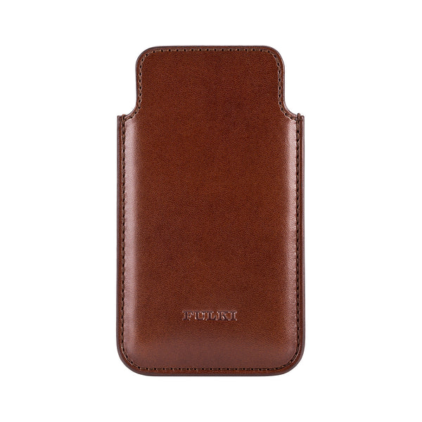 Leather iPhone 5 Pouch in Cognac