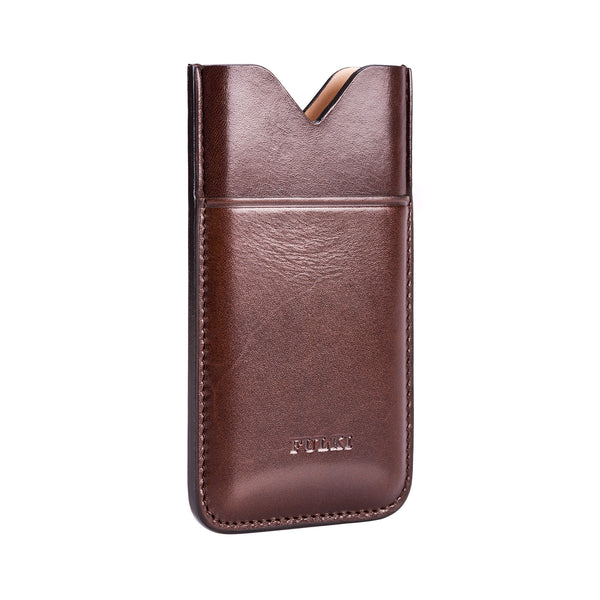 Leather iPhone 5 Pocket Case in Coffee