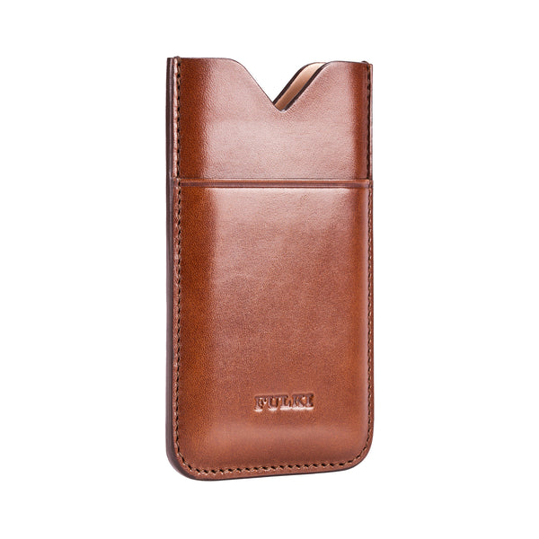 Leather iPhone 5 Pocket Case in Cognac