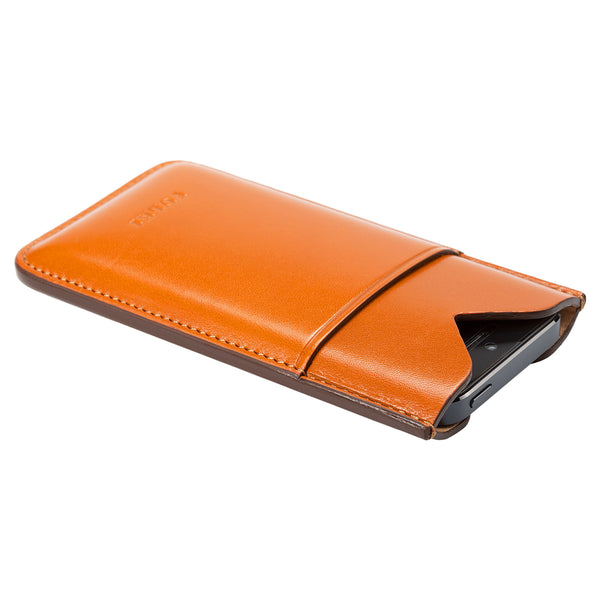 Leather iPhone 5 Pocket Case in Tan