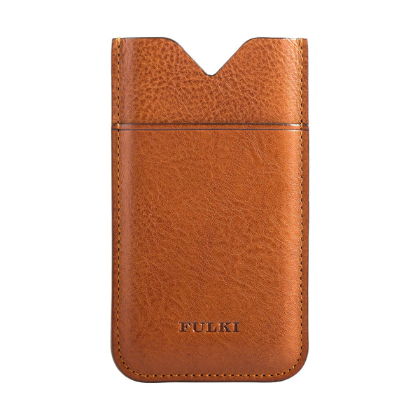 Leather iPhone 6 Pocket Case in Cuoio