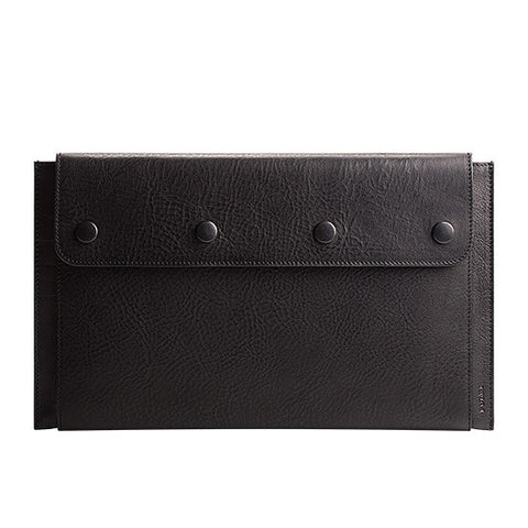 "Leather MacBook Air 11"" Portfolio in Black"