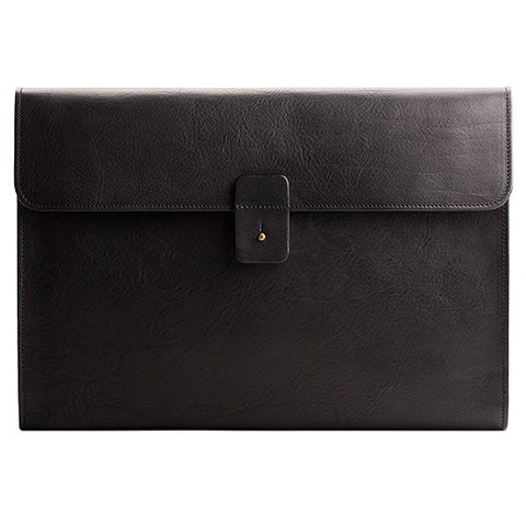 Leather MacBook Pro Portfolio in Black