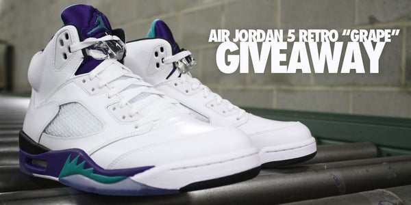 "Air Jordan 5 Retro ""Grape"" Giveaway"