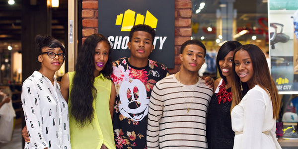 Diggy Simmons & Trevor Jackson Stop to Shop Shoe City
