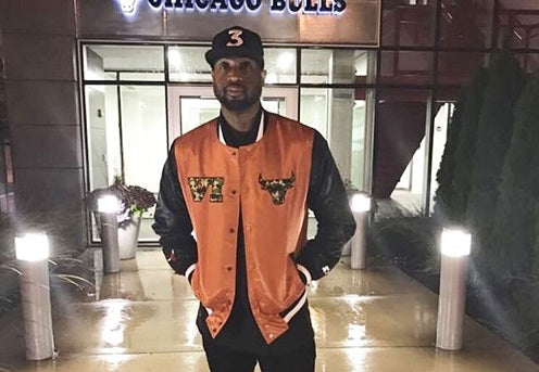 6 Rings Starter x Shoe City Exclusive Chicago Bulls Camo Satin Jacket