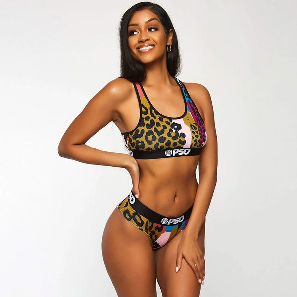Scattered Cheetah Sports Bra