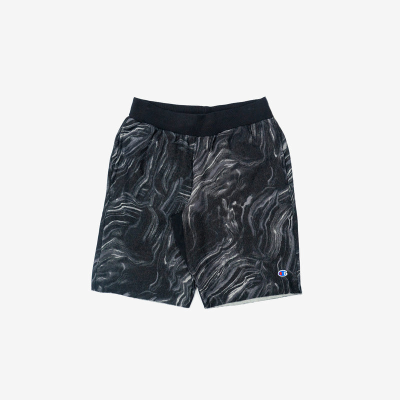 Marble Reverse Weave Cut-Off Shorts