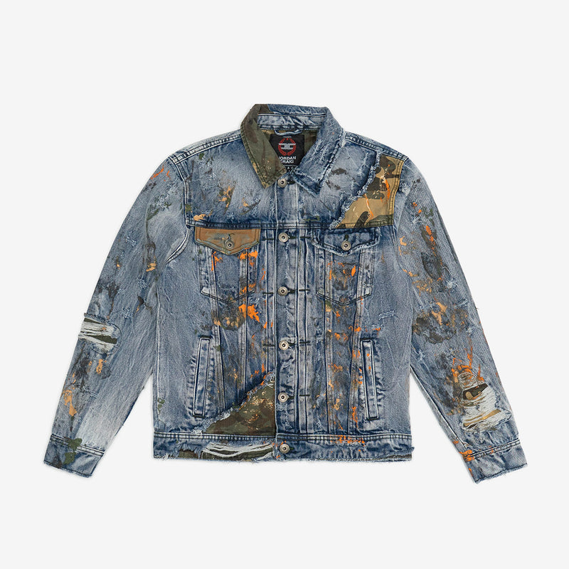 Woodland Camo Denim Jacket