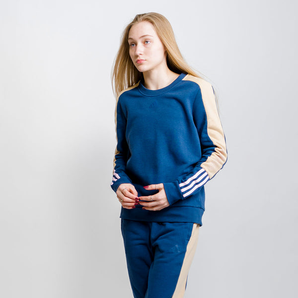 Color-Block Linear Sweatshirt