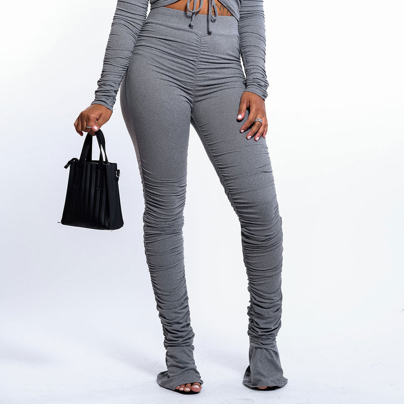 EXTREME STACKED RUCHED LEGGINGS