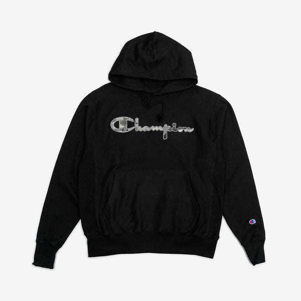 Marble Logo Applique Pullover Hoodie