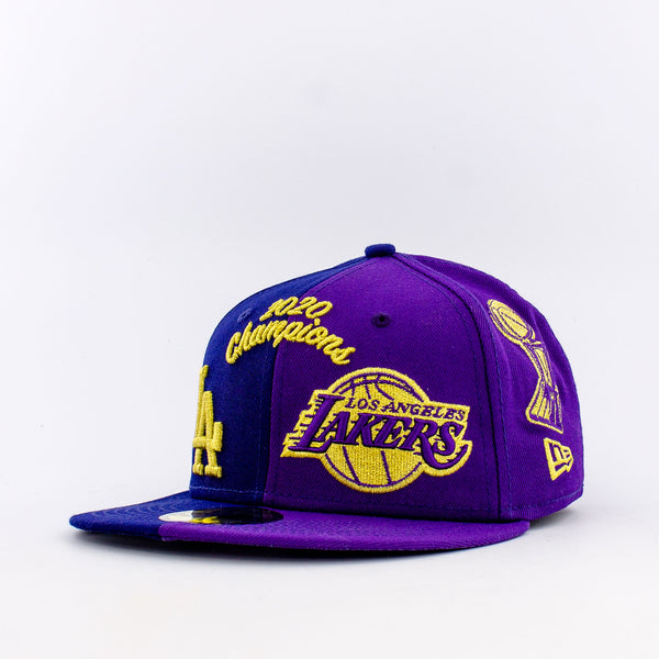 NBA LA Lakers And MLB LA Dodgers 59FIFTY Fitted Hat