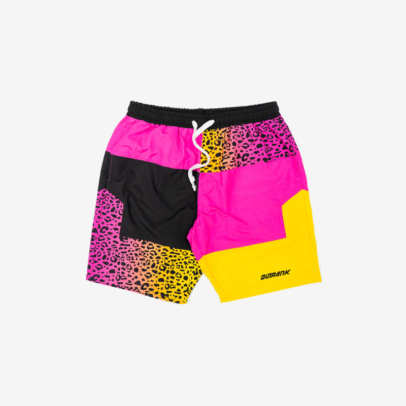 Tropic Cheetah Nylon Shorts