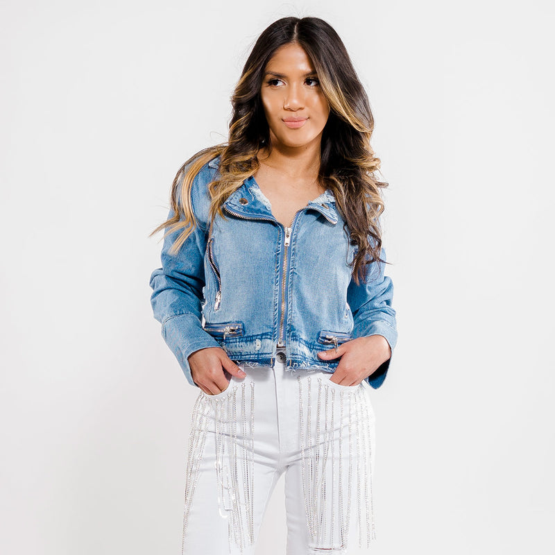 Moto Denim Jacket