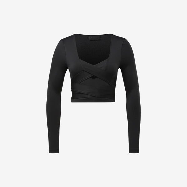 Cardi B Long Sleeve Crop Top