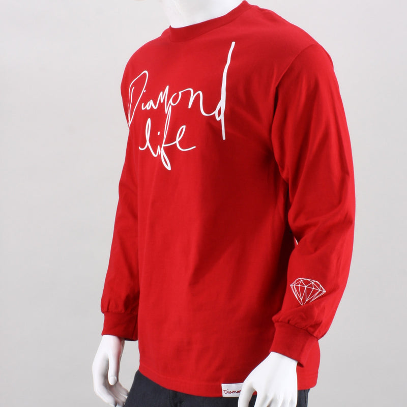 Diamond Supply Co. Diamond Life Script Long Sleeve Tee