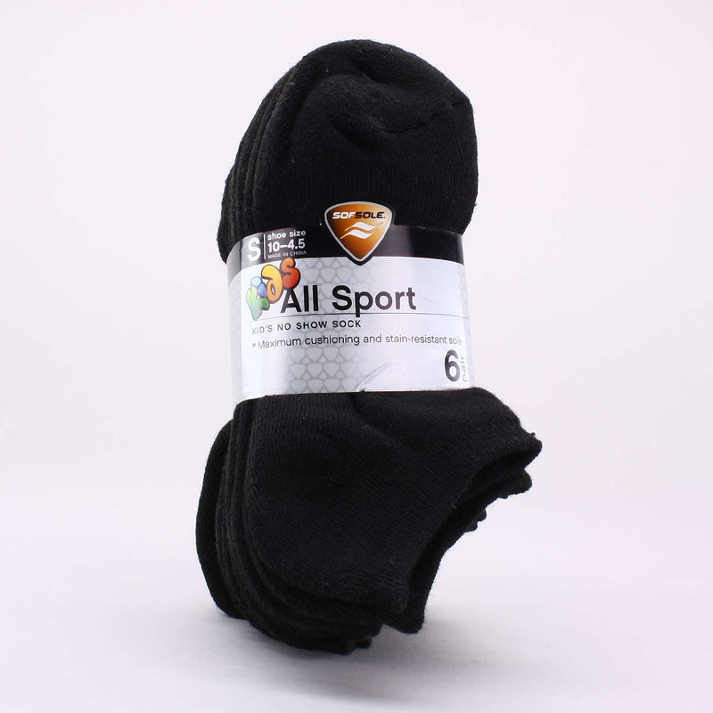 Sof Sole Size 7-9 All Sport No Show Sock 6 Pack