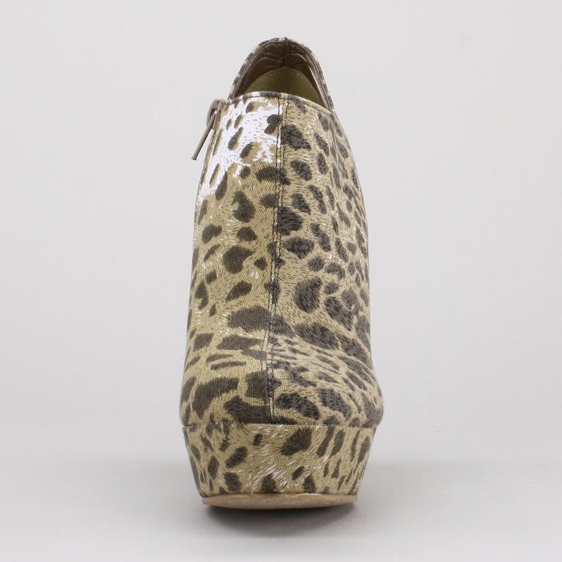 Privileged Leopard Wedge Bootie