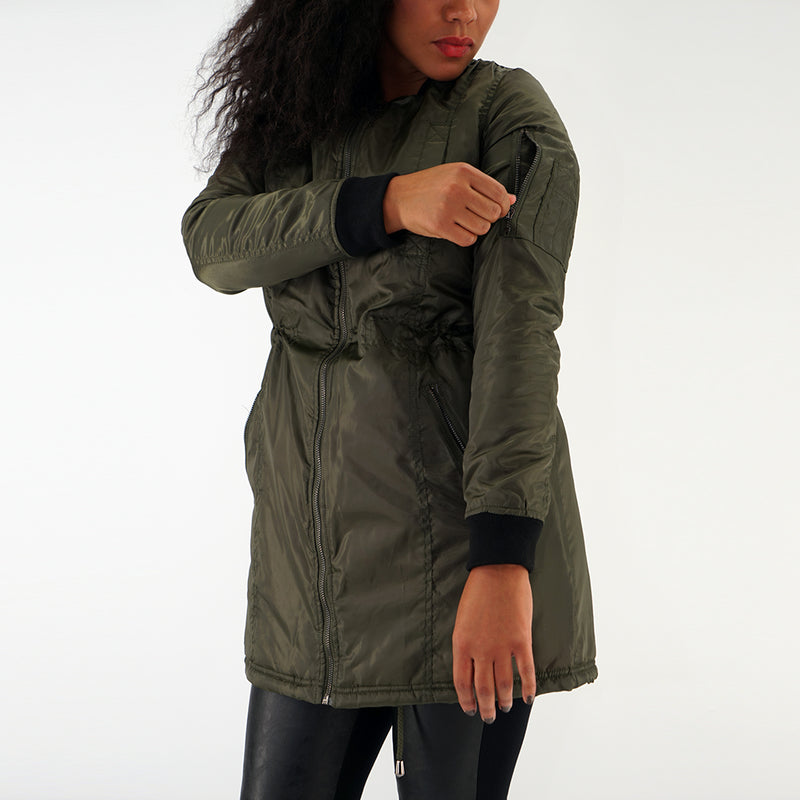 Miss YCMC MA1 Poly Long Jacket