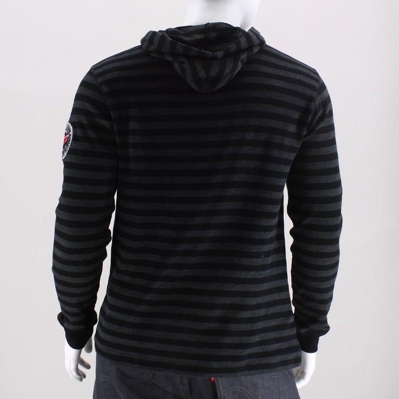 Smoke Rise Monarch Striped Hooded Henley