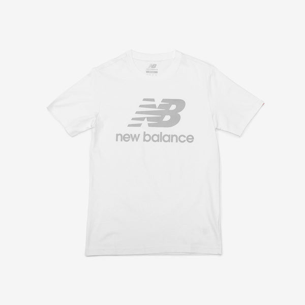 New Balance Reflective Stacked Logo Tee