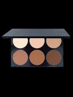 6 slot empty dual powder foundation palette