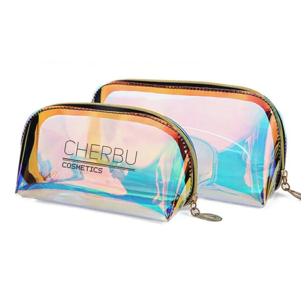 NEW!!  HOLOGRAPHIC MAKEUP BAGS