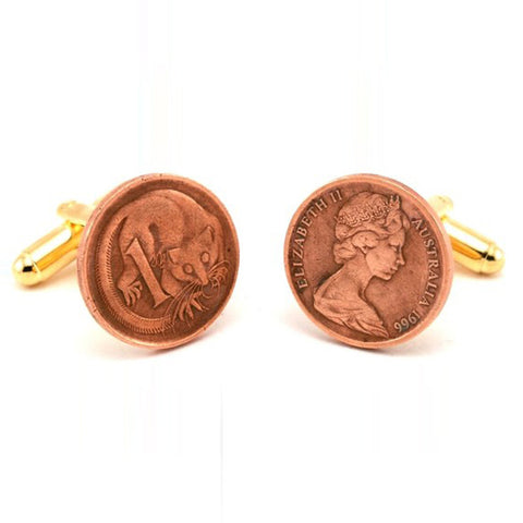 Australia One Cent Coin Cufflinks