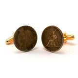 French Old Merchant Coin Cufflinks