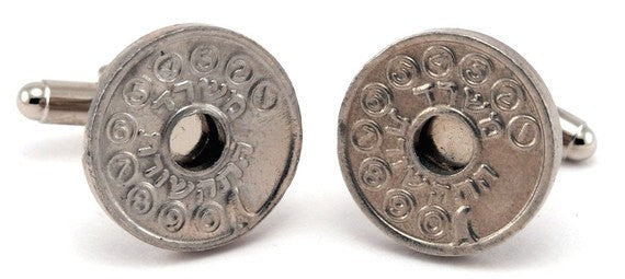 Israel Phone Token Cufflinks