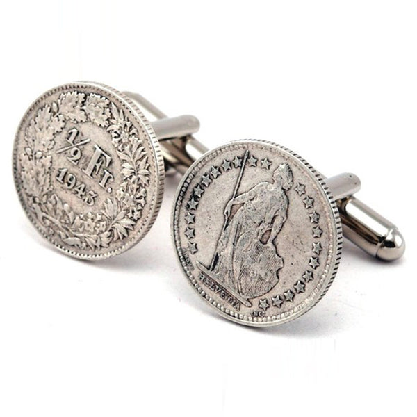 Swiss Franc Cufflinks