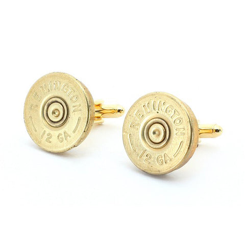 Remington Brass 12 Gauge Shotgun Shell Cufflinks