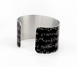 Mathematical Equations Aluminum Cuff