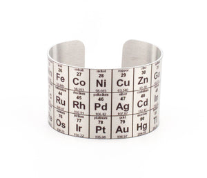 Periodic Table Aluminum Cuff