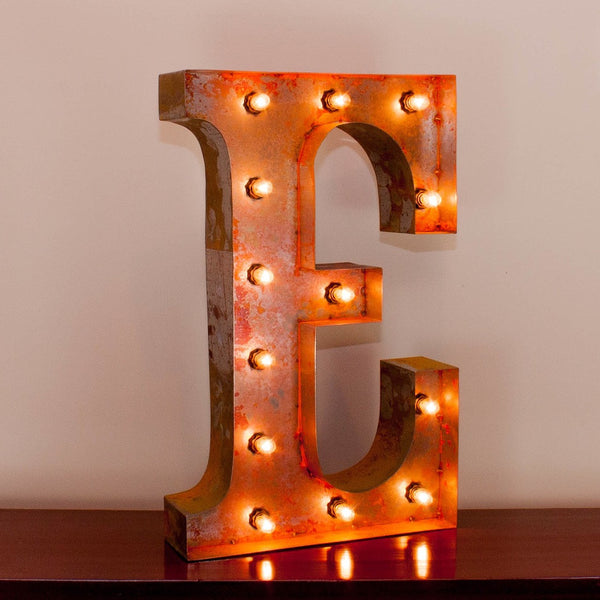 Vintage Marquee Letter E