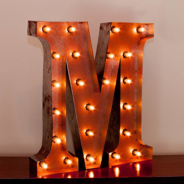 Vintage Marquee Letter M