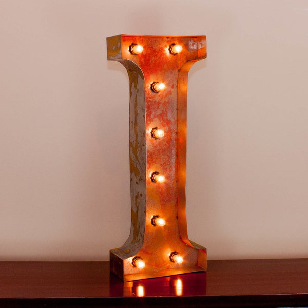 Vintage Marquee Letter I