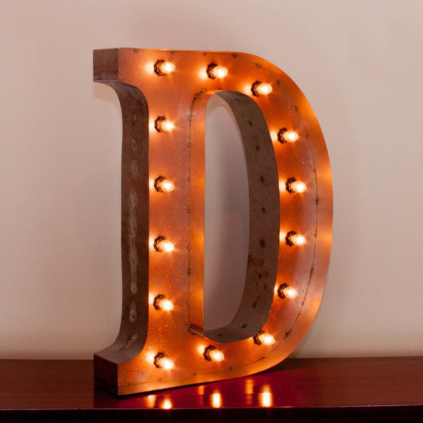 Vintage Marquee Letter D