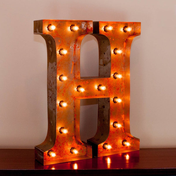 Vintage Marquee Letter H