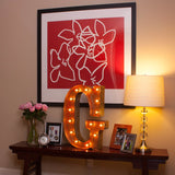 Vintage Marquee Letter G
