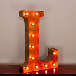 Vintage Marquee Letter L