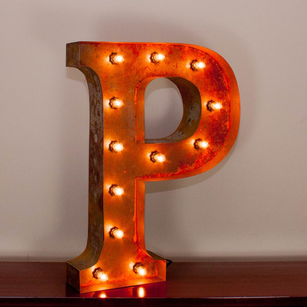 Vintage Marquee Letter P