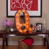 Vintage Marquee Letter Q