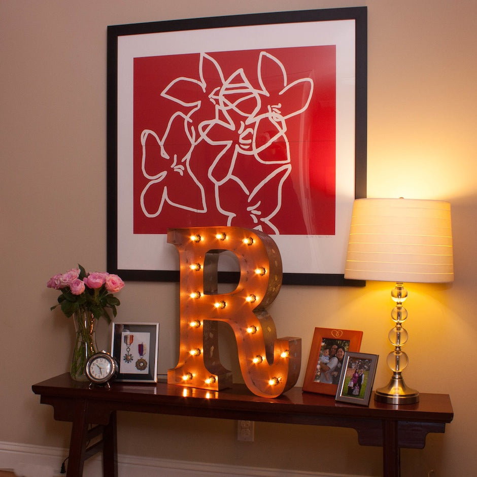 Vintage Marquee Letter R