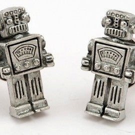 Retro Geek Robot Cufflinks