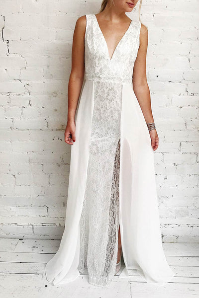 Adalgisa White & Silvery Lace Mermaid Bridal Dress | Boudoir 1861 2