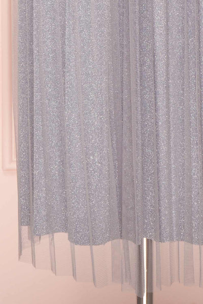 Keelin Gris Grey Glitter Mesh Midi Skirt | Boutique 1861 7