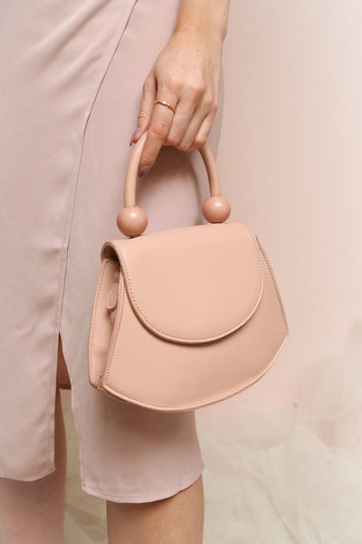 Aarhus Pink Faux-Leather Handbag | Boutique 1861 on model